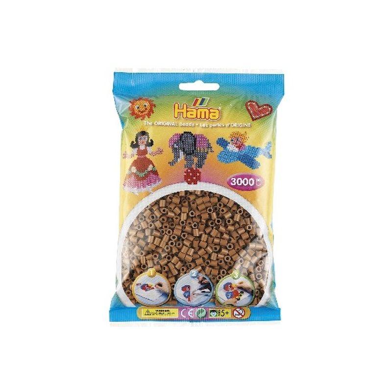 Hama perler i midi- Farven er nougat-76 Kan bruges til  midi perleplade.