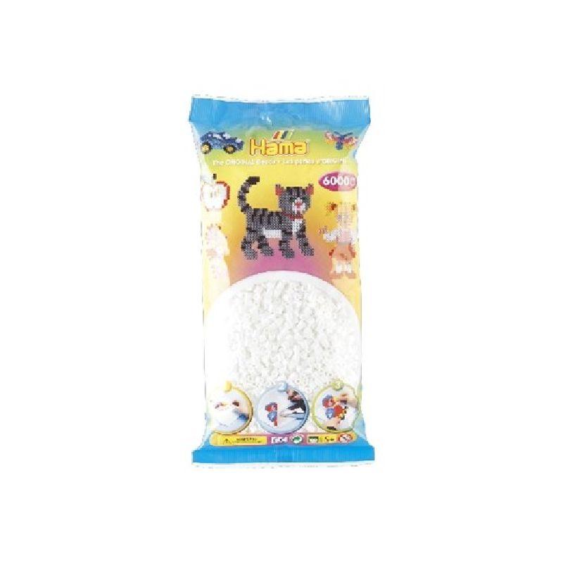 Skal du lave noget hvor du skal bruge rigtig mange af den  samme farve Hama midi perler kan du k�be disse poser med  6.000  stk i.