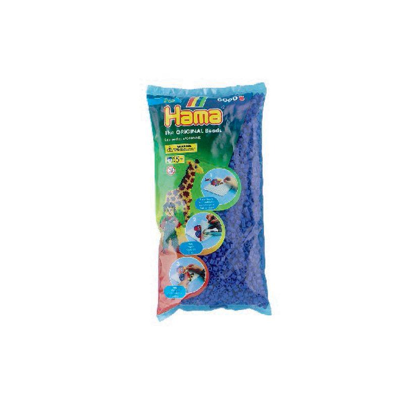 1 pose midi perler. Hama perler i bl� nr 08. Pose med  6000 stk. Kan bruges p� midi plader. Lav m�nstre og  motiver med andre farver.