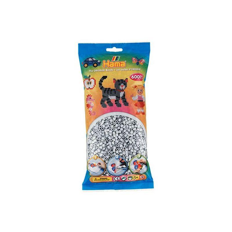 Midi hama perler 6000 stk i pose. Farve lysegr� nr. 70.  Kan bruges p� midi perle plader. Lav mange forskellige  figur. S�t forskellige farver sammen til mage motiver og  m�nstre.