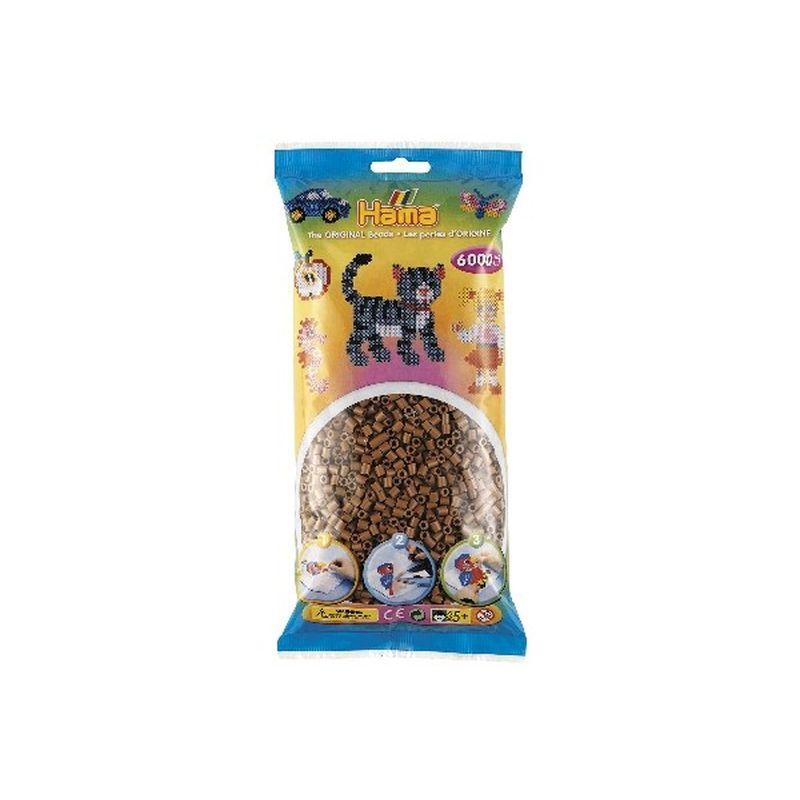 Hama perler 6000 stk. Farve nougat nr 76. Kan bruges til  midi perle plader. S�t forskellige farver sammen. Lav  mange motiver og figur