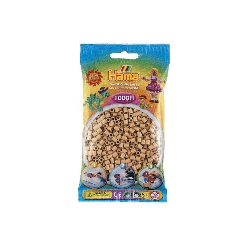 Midi perler fra Hama. 1000 stk i farve tan, nummer 75.  Kan bruges til at lave m�nster og motiver sammen med  andre farver. Bruges p� midi plader.