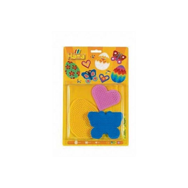 Sommerfugl, �g, lille hjerte plader - Hama� midi perler