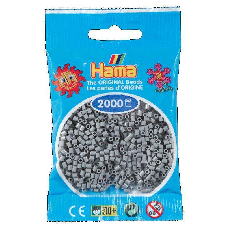 Mini perlerne er de mindste af Hama�s perler og de findes  i 50 forskelige farver. Man kan lave mange detaljeret motiver med Hama� mini  perler.