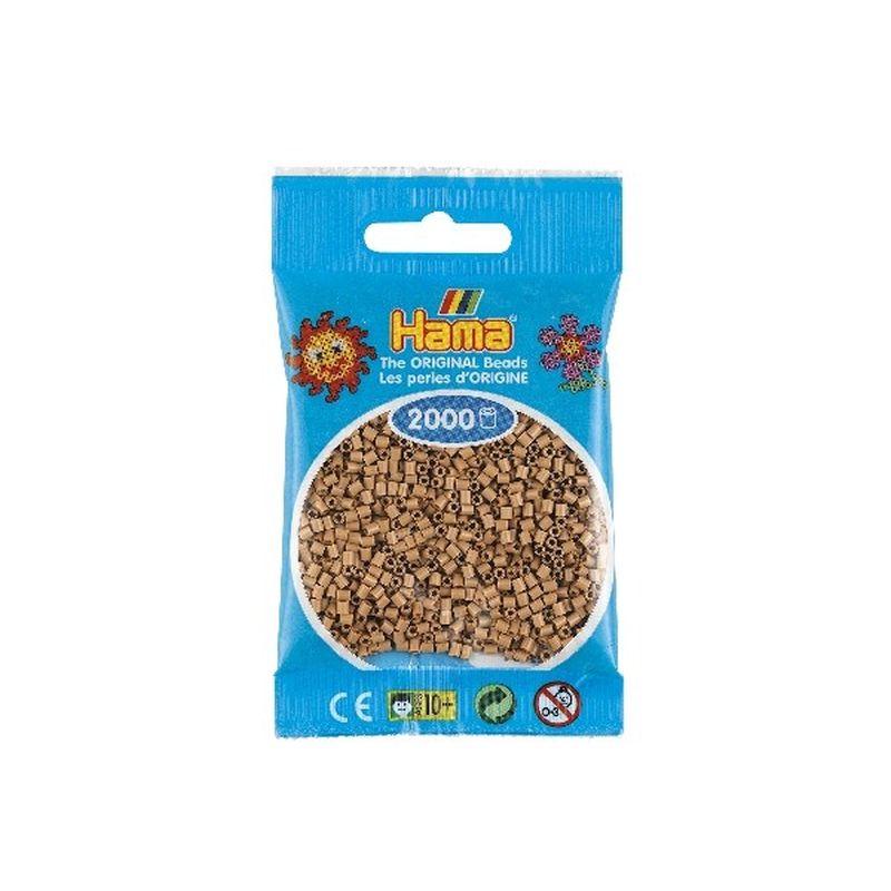 mini perler fra Hama. Pose med 2000 stk perler. Farve 75  Tan. Kan bruges til m�nstre og motiver
