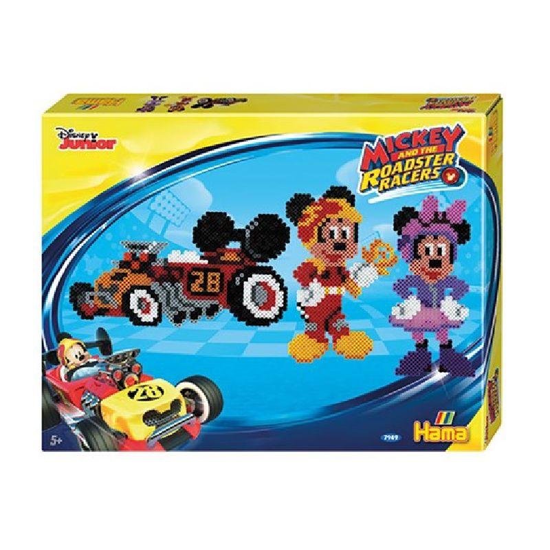 Tag p� racertur med Mickey og Minnie, lav motiver med Hama midi perler