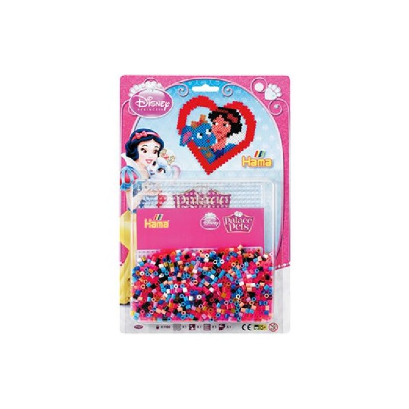 Lav motiver med Prinsseser og de s�de k�ledyr fra Disney Princess Place Pets med Hama� midi perle.