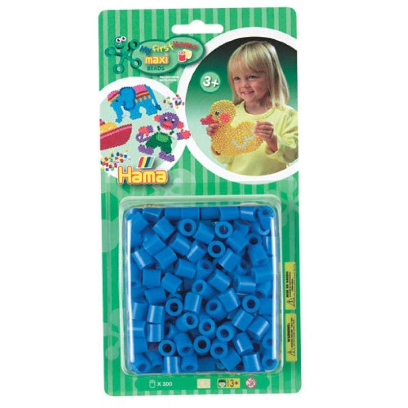 Hama� maxi perler findes i 6 farver der kan k�bet uden for mix pakkerne