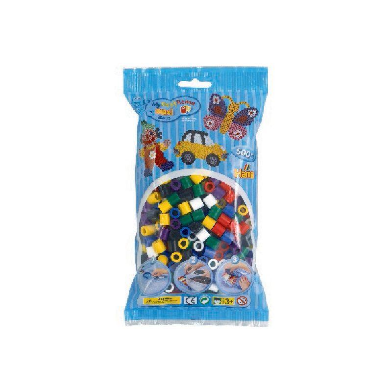 Maxi perlerne er de st�rste af Hama�s perler. an kan lave mange detaljeret motiver med Hama� mini  perler. Perler mix 51 best�r af f�lgende farver  01,03,05,07,09,10,18