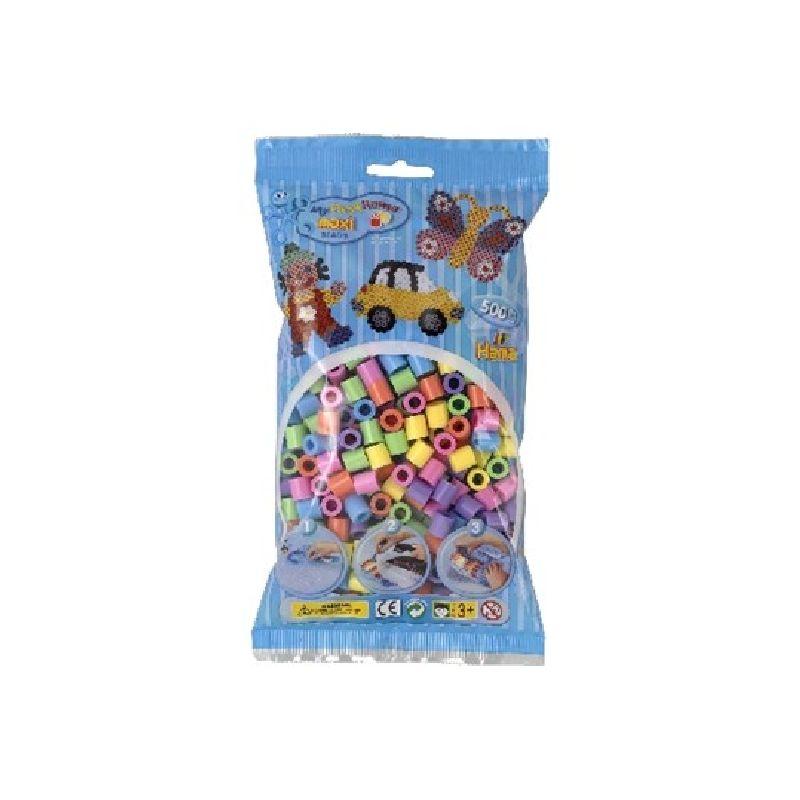Maxi perlerne er de st�rste af Hama�s perler. an kan lave mange detaljeret motiver med Hama� mini  perler. Perler mix 50 best�r af f�lgende farver  43,44,45,46,47,48