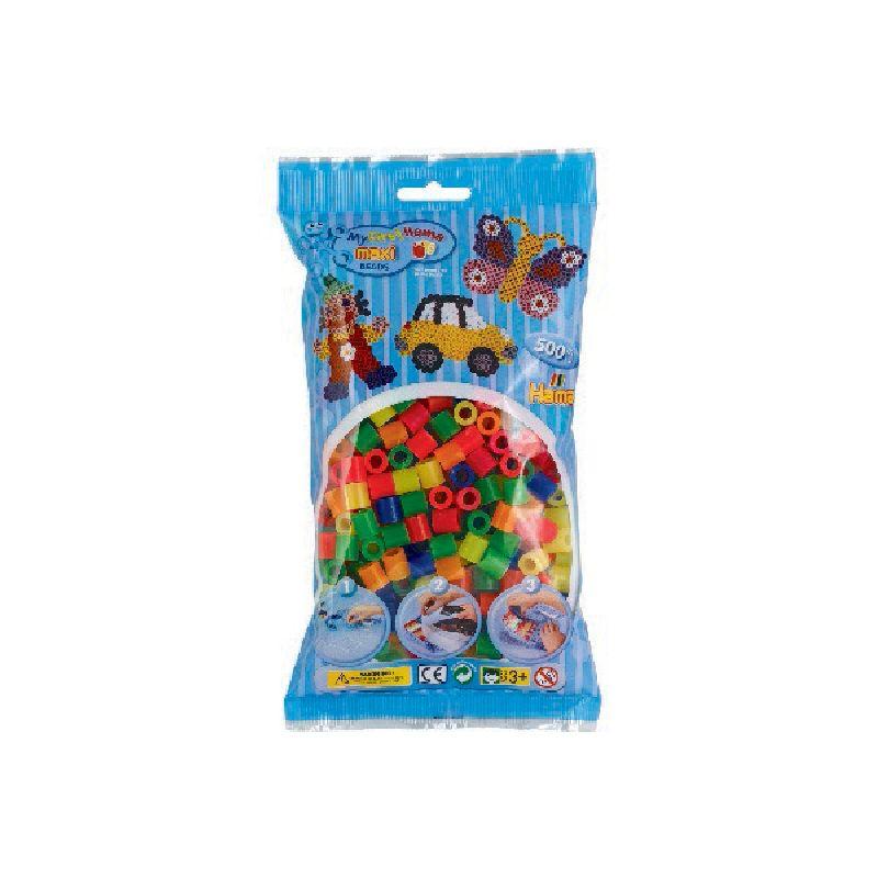 Maxi perlerne er de st�rste af Hama�s perler. an kan lave mange detaljeret motiver med Hama� mini  perler. Perler mix 51 best�r af f�lgende farver  32,34,35,36,38