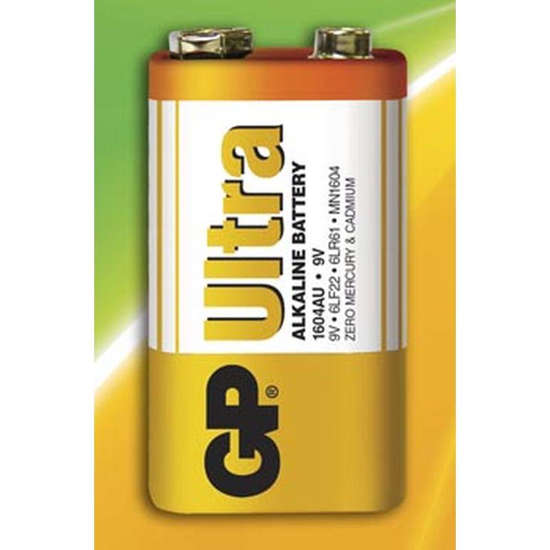 GP® laver nogle gode batterier. 9 Volt batteriet bruges  b.la. til nogle røgalarmer og fjernbetjening.