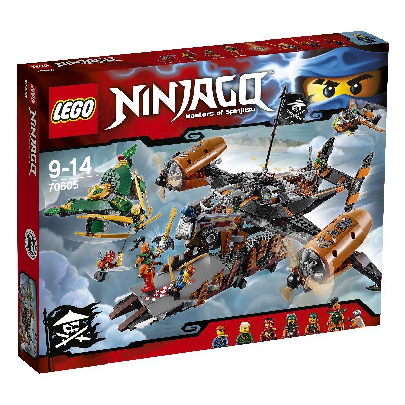 Lego Ninjago er et s�t med mange gode dele i. Der k�mper de  gode imod de onde. I pakken kan du samle en k�mpe stor flyver  og en mindre flyver. Der er 9 forskellig figur med i pakken.
