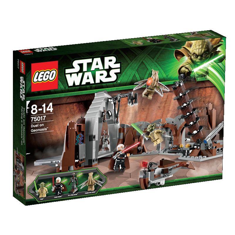 Forhindr Count Dooku� i at forlade Geonosis� med  planerne for D�dsstjernen! Brug Kraften, og hj�lp Jedi  Master Yoda� med at springe op i luften, undvige Sith- fyrstens lyn og fange Count Dooku. Forhindr Count Dooku  i at �del�gge skjulestedet og undslippe p� sin speeder.  Fire minifigurer med v�ben: Count Dooku, Yoda, Poggle  the Lesser og Dooku�s Pilot Droid�.