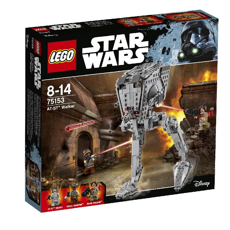 Robot fra Star wars. Figur som AT-ST Driver, Rebel  Trooper eller Base Malbus. Robotten kan skyde og g� med  din hj�lp