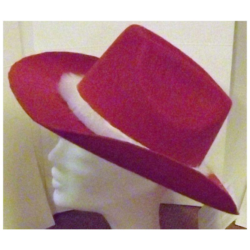 Cowboy hat i r�d filt med lys