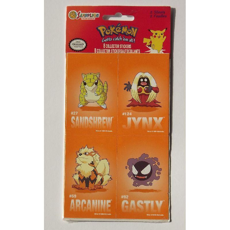 Pokemon klisterm�rker, 8 forskellige til at samle p�