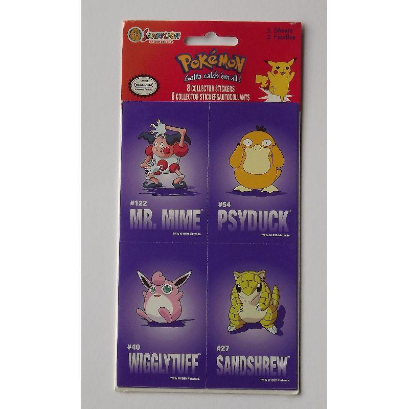 Pokemon klisterm�rker 8 stks. saml dem alle! byt med dine  venner!