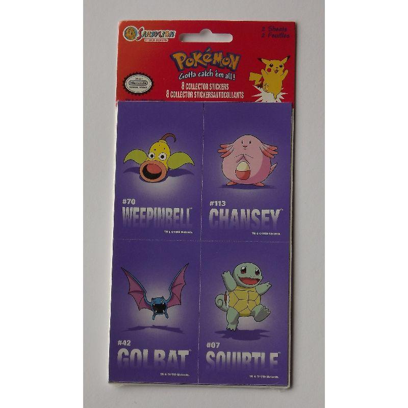 Pokemon klisterm�rker 8 forkellige samle klisterm�rker!