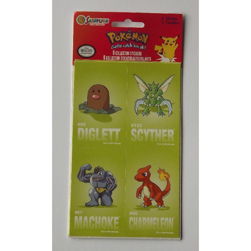Pokemon klisterm�rker 8 forskellige klisterm�rker