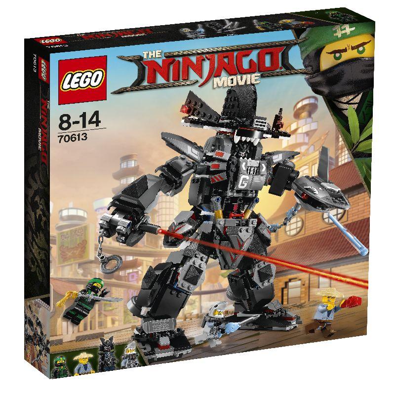 Lego ninja k�mpe fra The Ninjago movie. Samle den store  farlig ninja k�mpe. K�mp mod den med laserskyder. 4  forskellige  mini figur medf�lger.